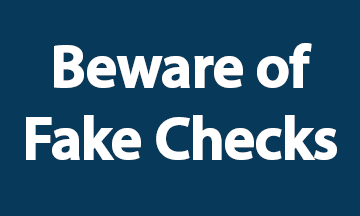 Beware of Fake Checks