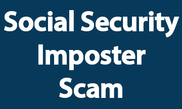 Social Security Imposter Scam Blue